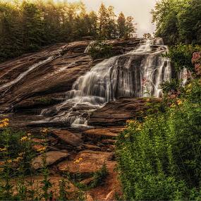 by Jeremy Yoho - Landscapes Waterscapes ( water, nature, waterfall, rocks, misty )