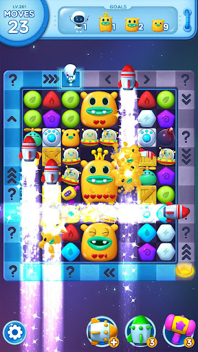 Little Odd Galaxy - Match 3 Puzzle Game  captures d'écran 5