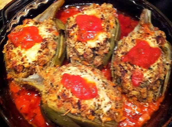 Stuffed Artichokes Vegetarian Recipe
