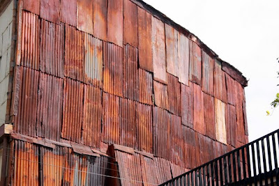 Metal building in Valparaiso Chile
