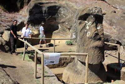Easter Island archaeological dig