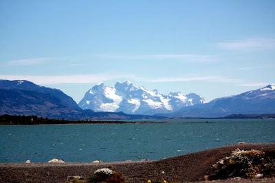 Mountain lake in Torres del Paine in Patagonia