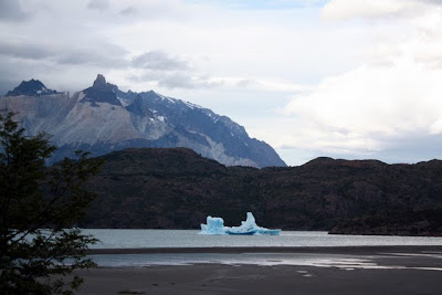 Torres del Paine glacier in Patagonia