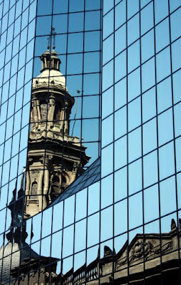 Reflective building in Santiago Chile