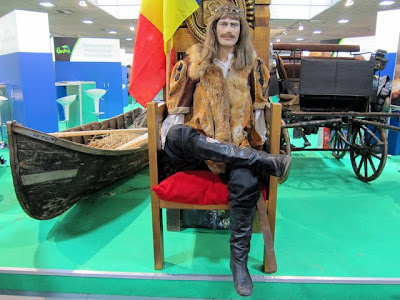 Viking statue at a travel convention in Berlin Germany