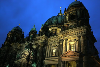 Berlin museum at night