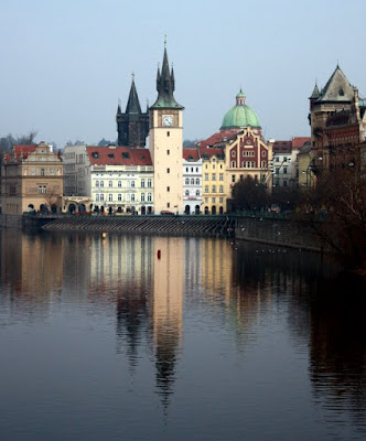 Views of Prague Czech Republic over the Vltava River