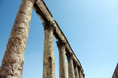 Roman ruins in Amman Jordan