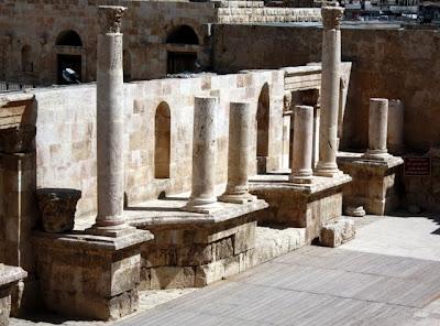Roman amphitheater in Amman Jordan