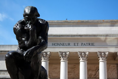 Rodin's Thinker at the Palace of Legion of Honor in San Francisco