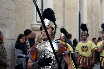 Crowd at a Good Friday procession in Rabat Malta