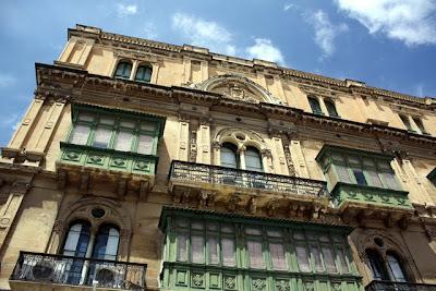Historic building in Valletta Malta