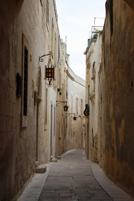 Narrow street in Mdina Malta