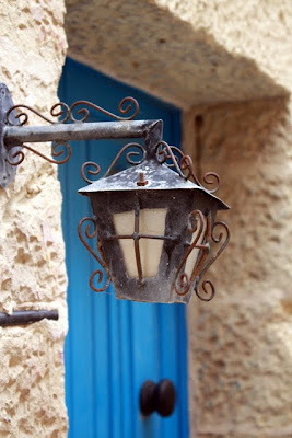 Lamp on a building in Rabat Malta
