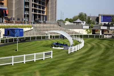 Ascot Racecourse parade ring in England