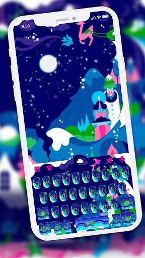 art drawing night keyboard theme screenshot 1