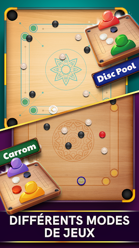 Disc Pool Carrom - Crokinole  captures d'u00e9cran 2