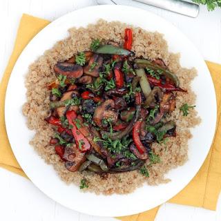 Mushroom Teriyaki Quinoa Bowl