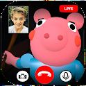 scary piggy roblx fake video call & chat simulator icon