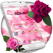Velvet Morning Rose Flower Theme