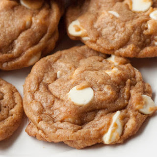 Pumpkin White Chocolate Pudding Mix Cookies.