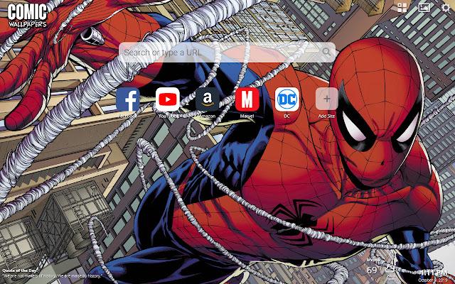 Comic Wallpapers New Tab Theme