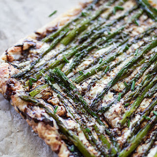 Asparagus Goat Cheese Puff Pastry Tart.
