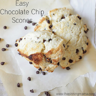 Easy Chocolate Chip Scones.