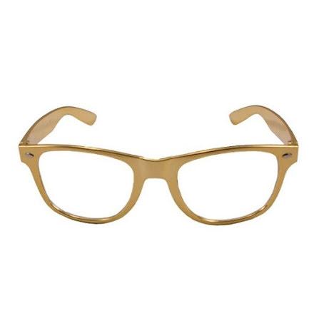 Glasögon guld blank