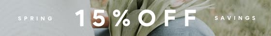 15% Off Spring Savings - Etsy Shop Mini Banner Template