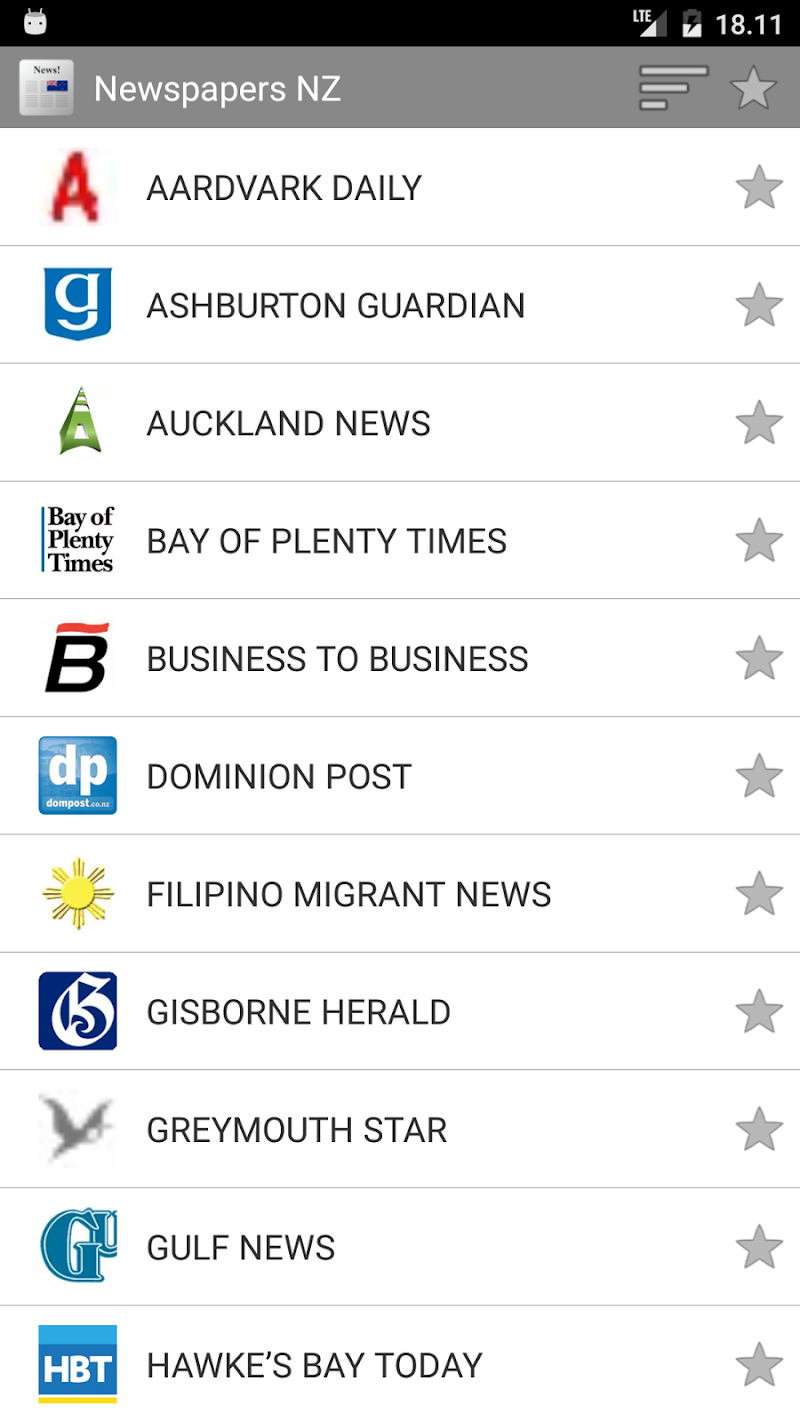 Скриншот Newspapers from New Zealand
