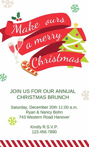 Christmas Greets Invitations