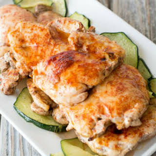 Sweet and Smokey Barbecued Chicken.