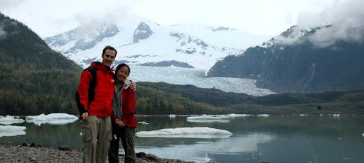 Towards the trailhead of Mendenhall Glacier in Juneau, Alaska