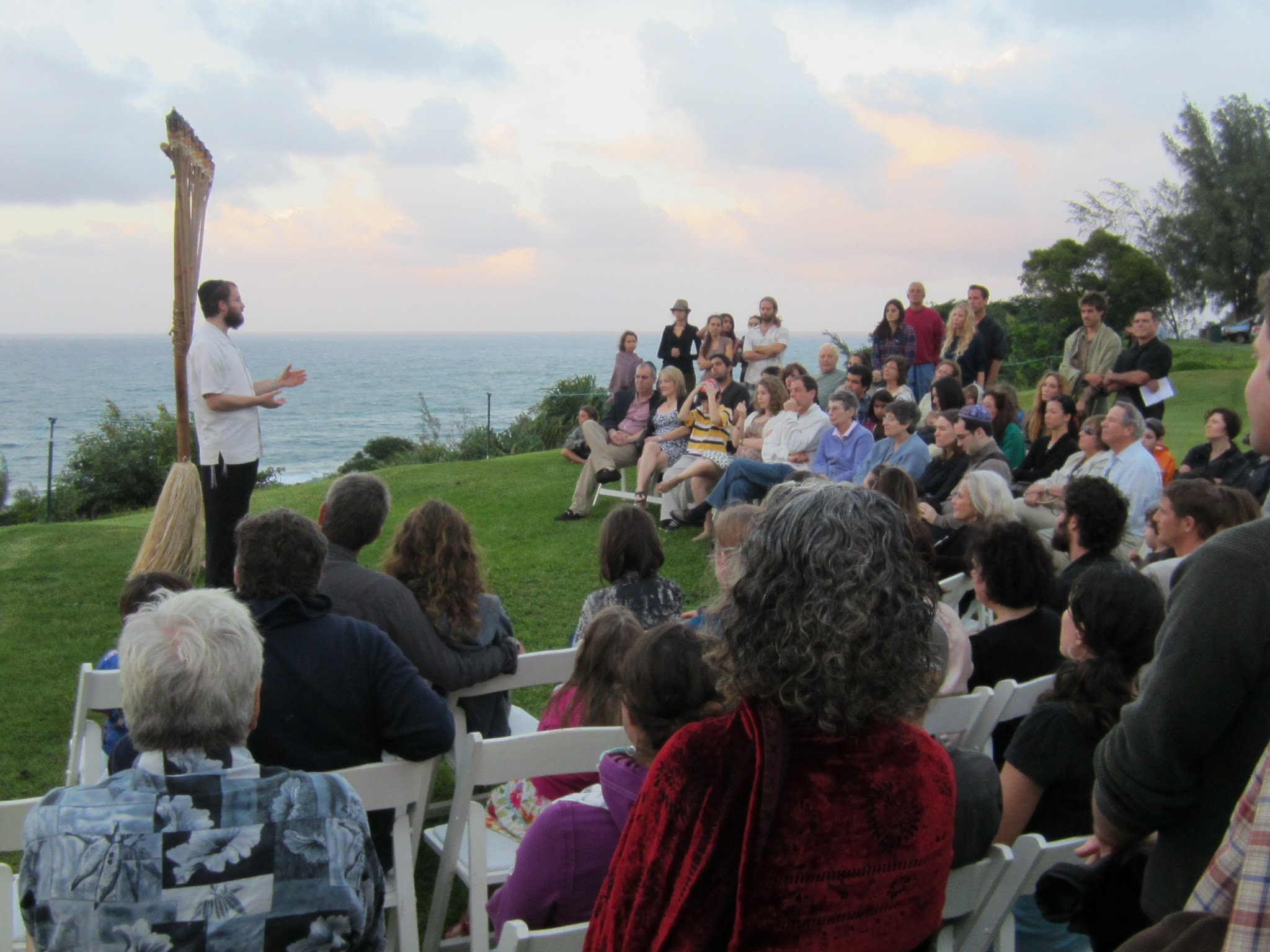 Photo: Local Kauai Jewry & visitors gather