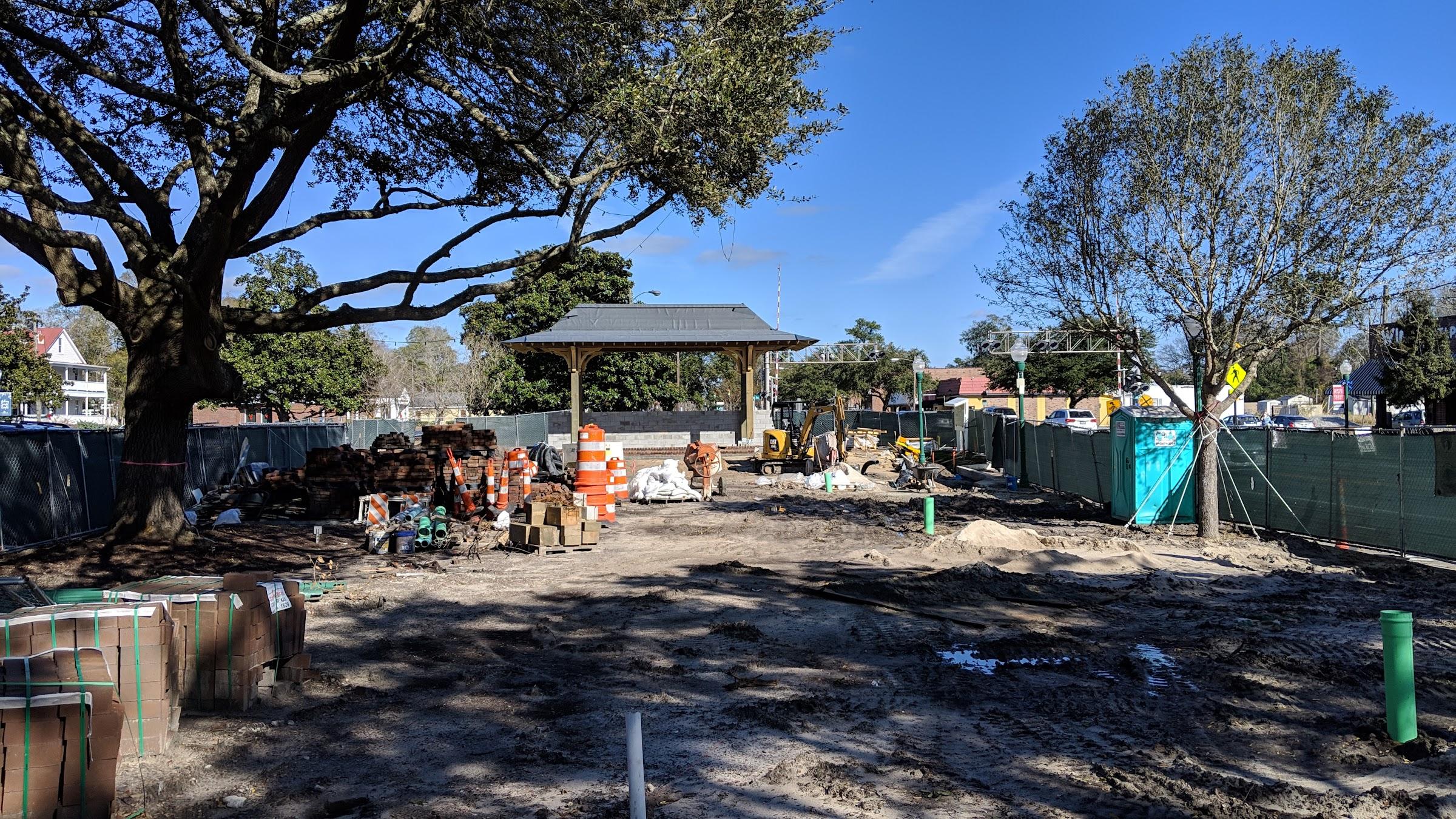 Summerville city center park under construction