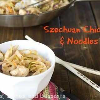 Szechuan Chicken and Noodles.