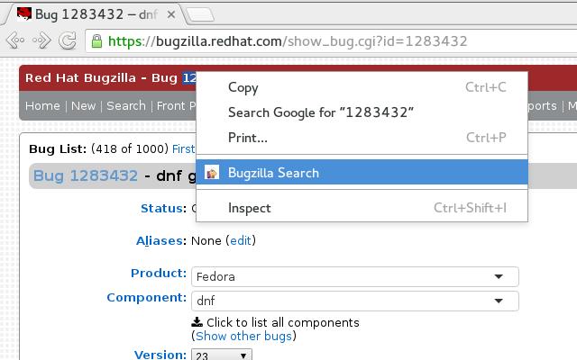 Bugzilla Search