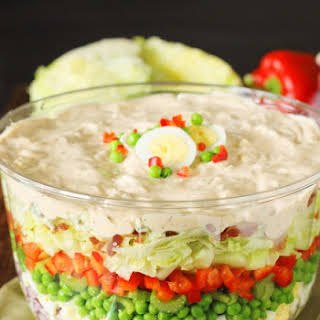 Make-Ahead Layered Picnic Salad.