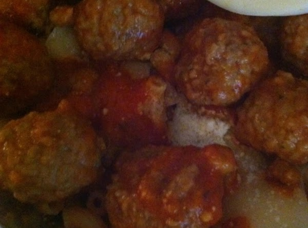 Add meatballs on top of this