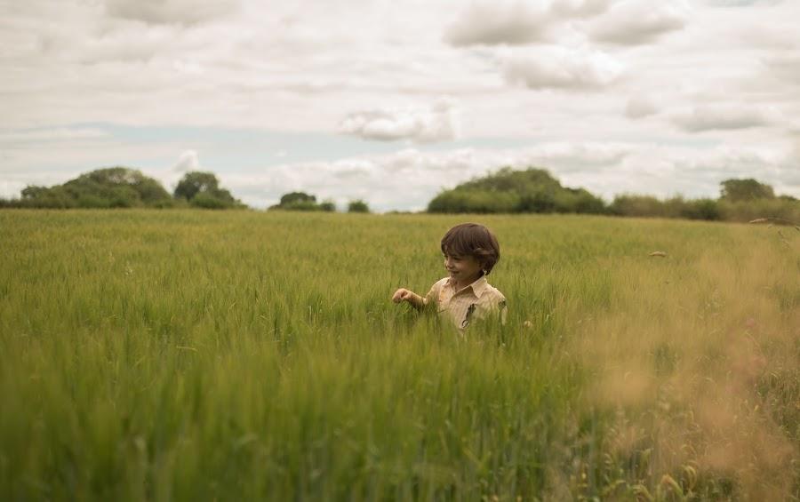 Child in corn by Bearded Egg - Babies & Children Children Candids ( portrait, boy, male, photography, child )