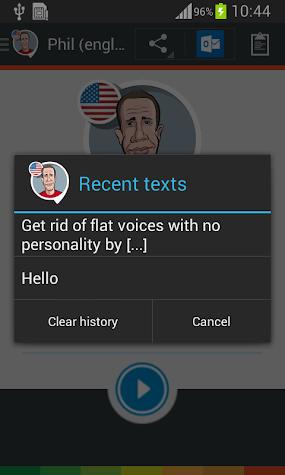 Phil TTS voice (English US) Screenshot