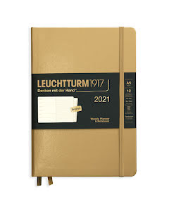 Kalender 2021 Leuchtturm1917 A5 vecka/notes Metallic