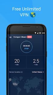 Hotspot Shield Basic - Proxy VPN gratuito e privacidade
