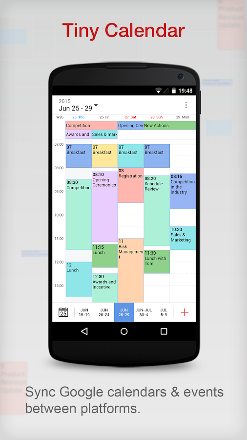 Calendar App Android : Tiny calendar app android apps on google play