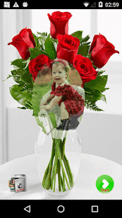 Red Rose Photo Montage - náhled
