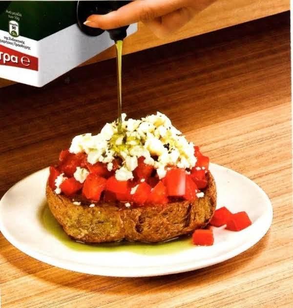Dakos Tomato &feta Cheese Appetizer Recipe