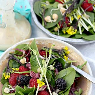Spinach Salad Recipe with Honey Mustard Dressing.