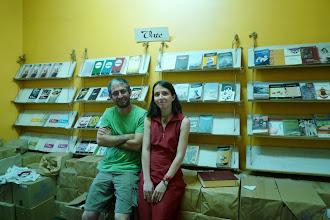 Photo: with Deniz Gündüz, Kurdish writer writing in Dimli dialect, Vate Publishing House, istanbul