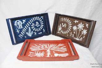 Photo: Warli Painting on wooden Items -Samples. mail us for requirements at info@warli.in